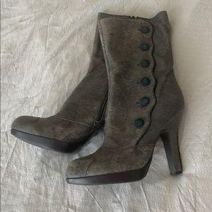 Sam Edelman charcoal grey heeled boots NWOT